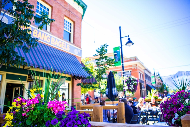 Patio season in Downtown Fernie