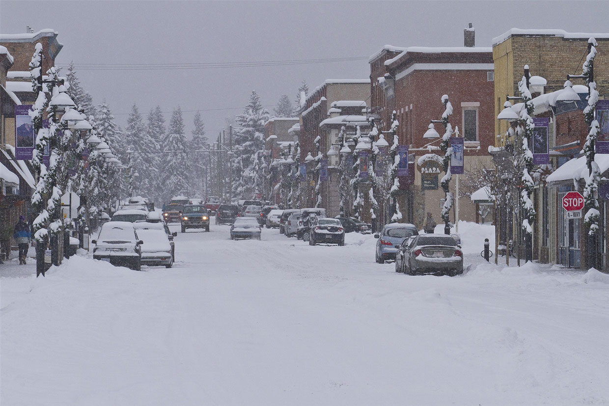 Snowy Historic Downtown Fernie