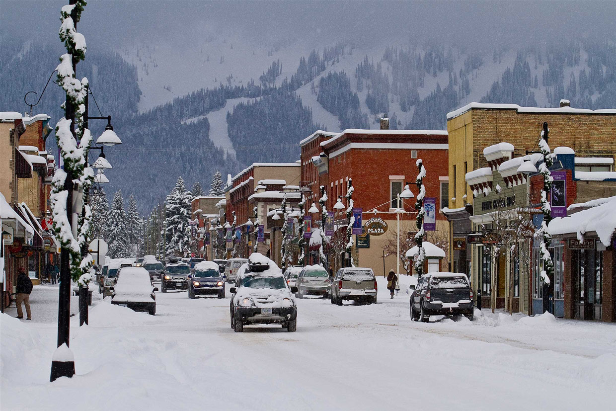 Snowy Day in Historic Downtown Fernie