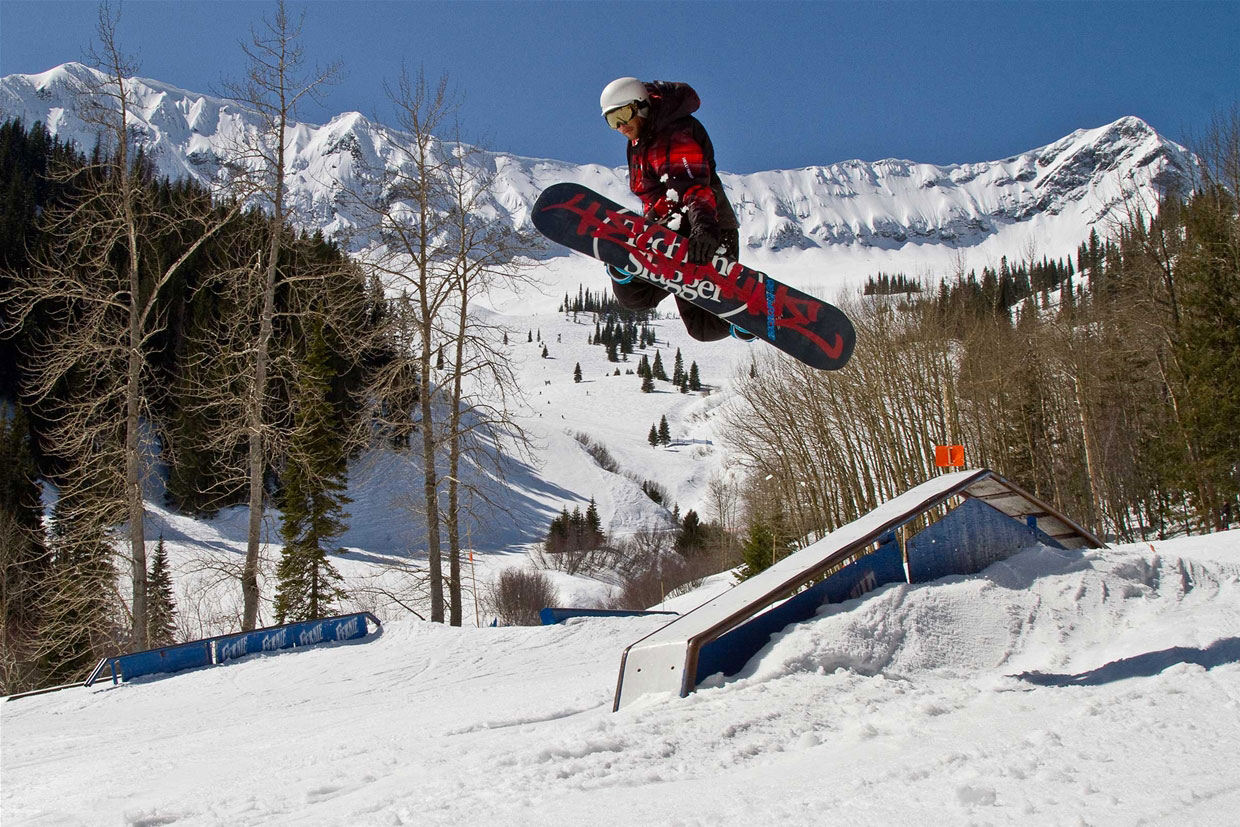 RCR Rail Park at Fernie Alpine Resort