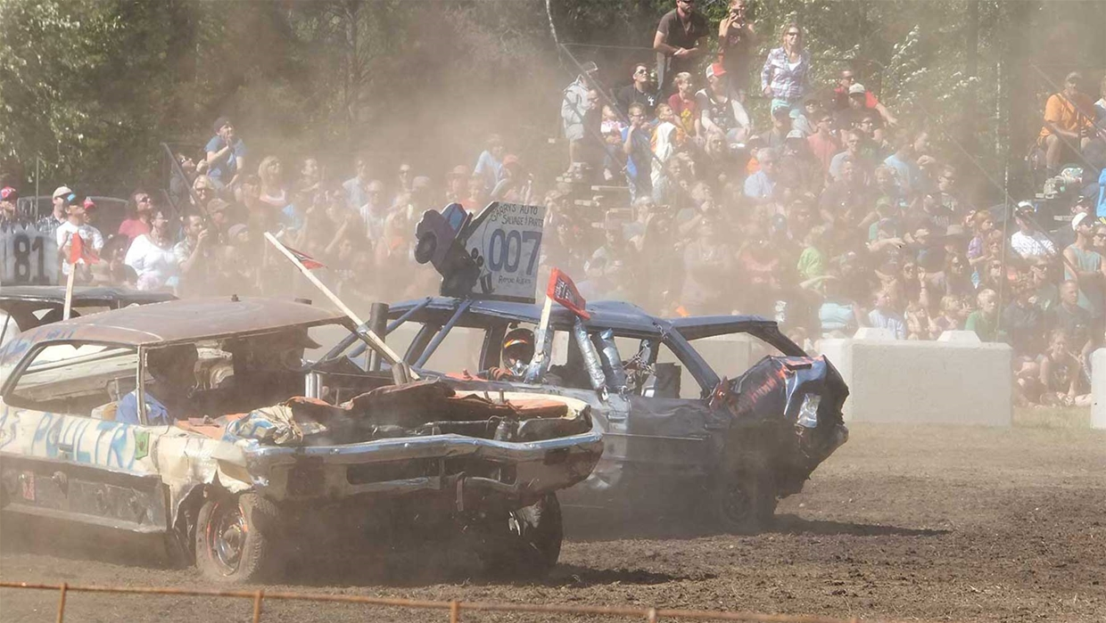 Demolition Derby In Fernie Bc