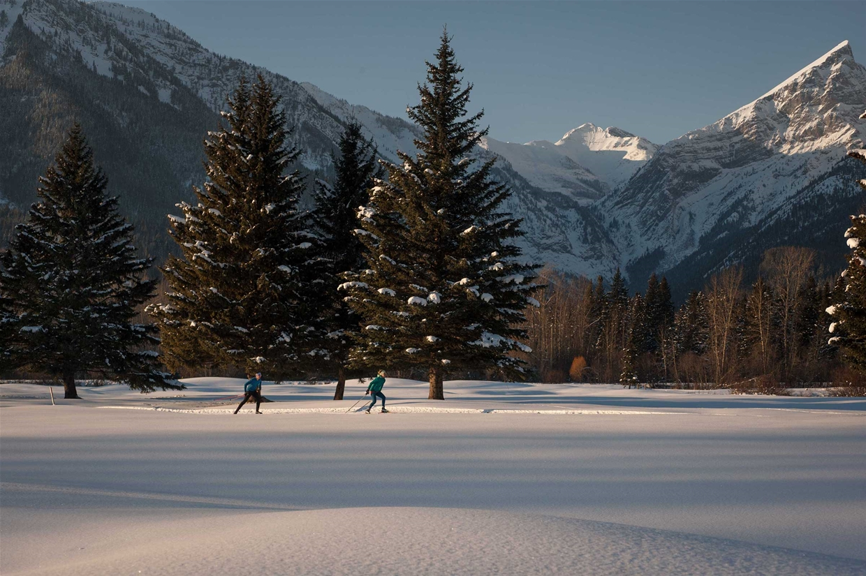 Nordic skiing at the Fernie Golf & Country Club