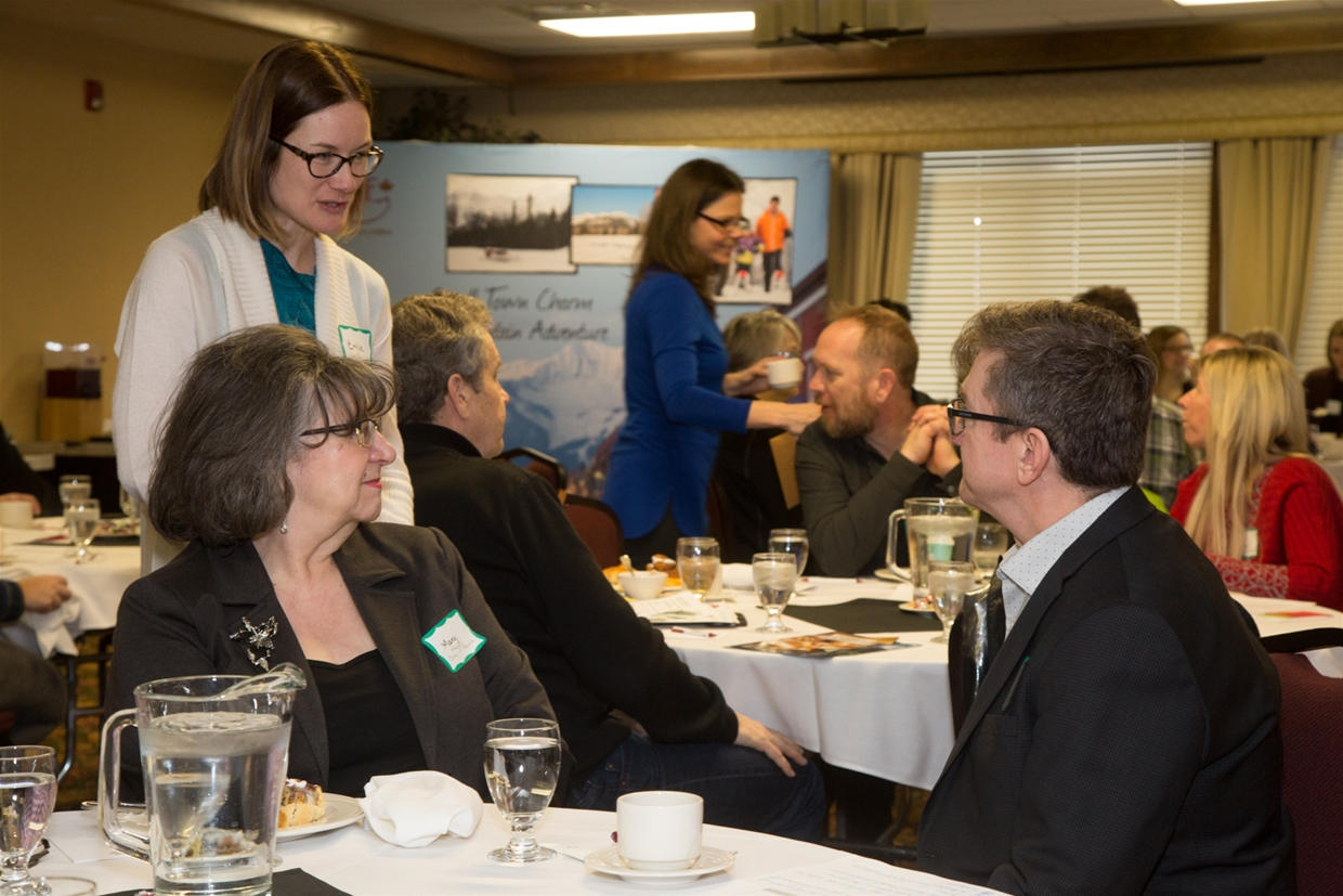 Tourism Fernie AGM Event 2017 - Mayor Giuliano, City of Fernie CAO Norm McInnis & Emilie Cayer-Huard of Kootenay Rockies Tourism