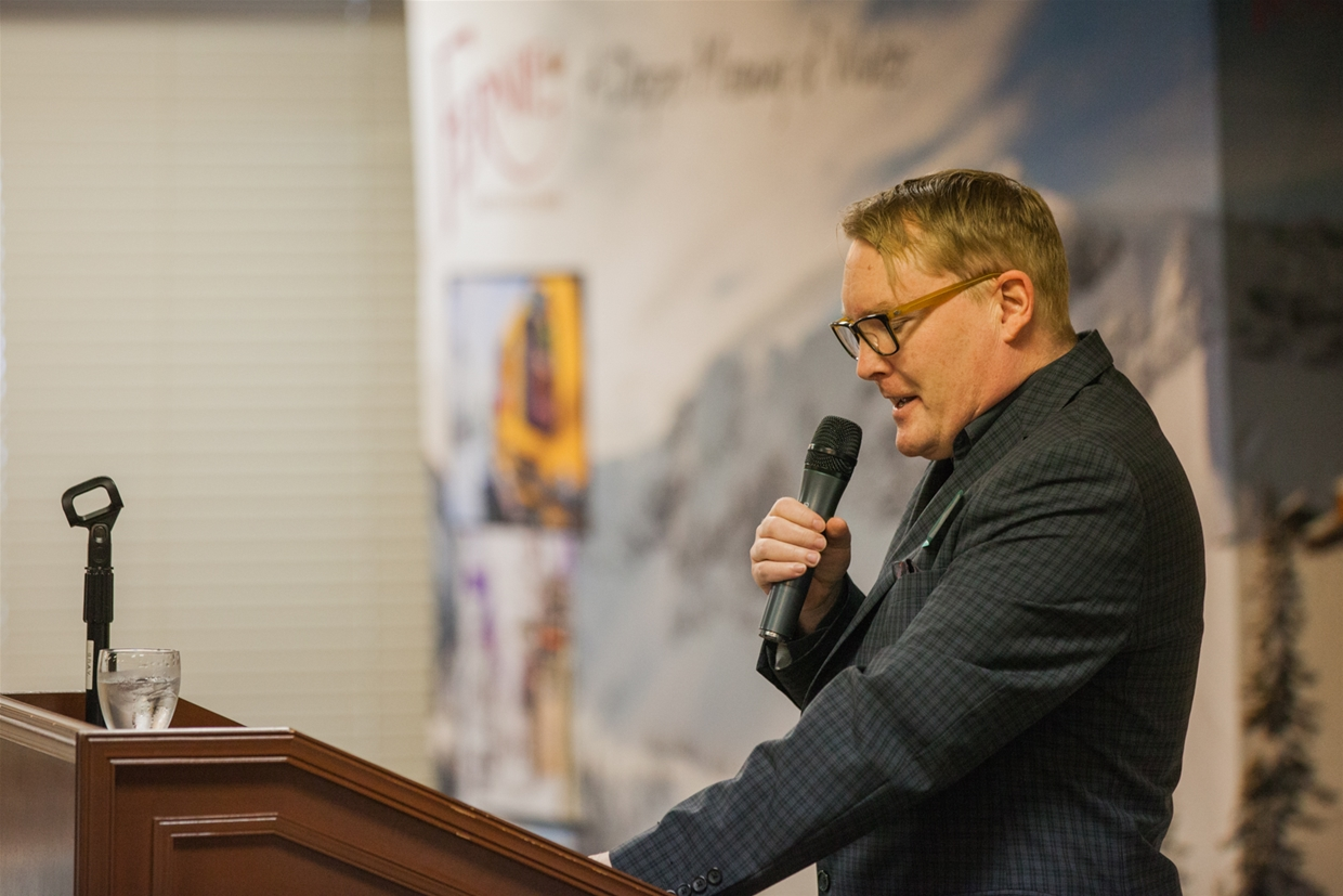 Tourism Fernie AGM Event 2017 - Mike McPhee, Acting Chair & MC