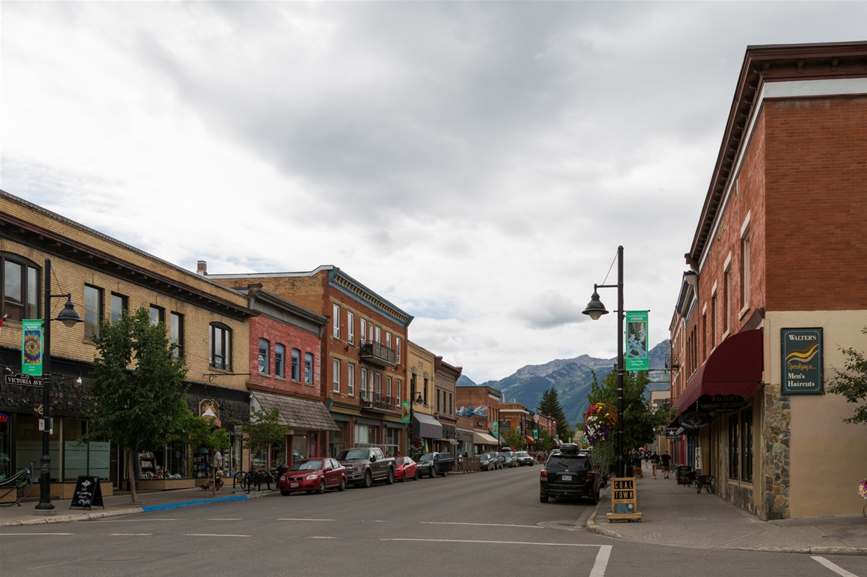 August 22th, 2019 - Downtown Fernie looking south west