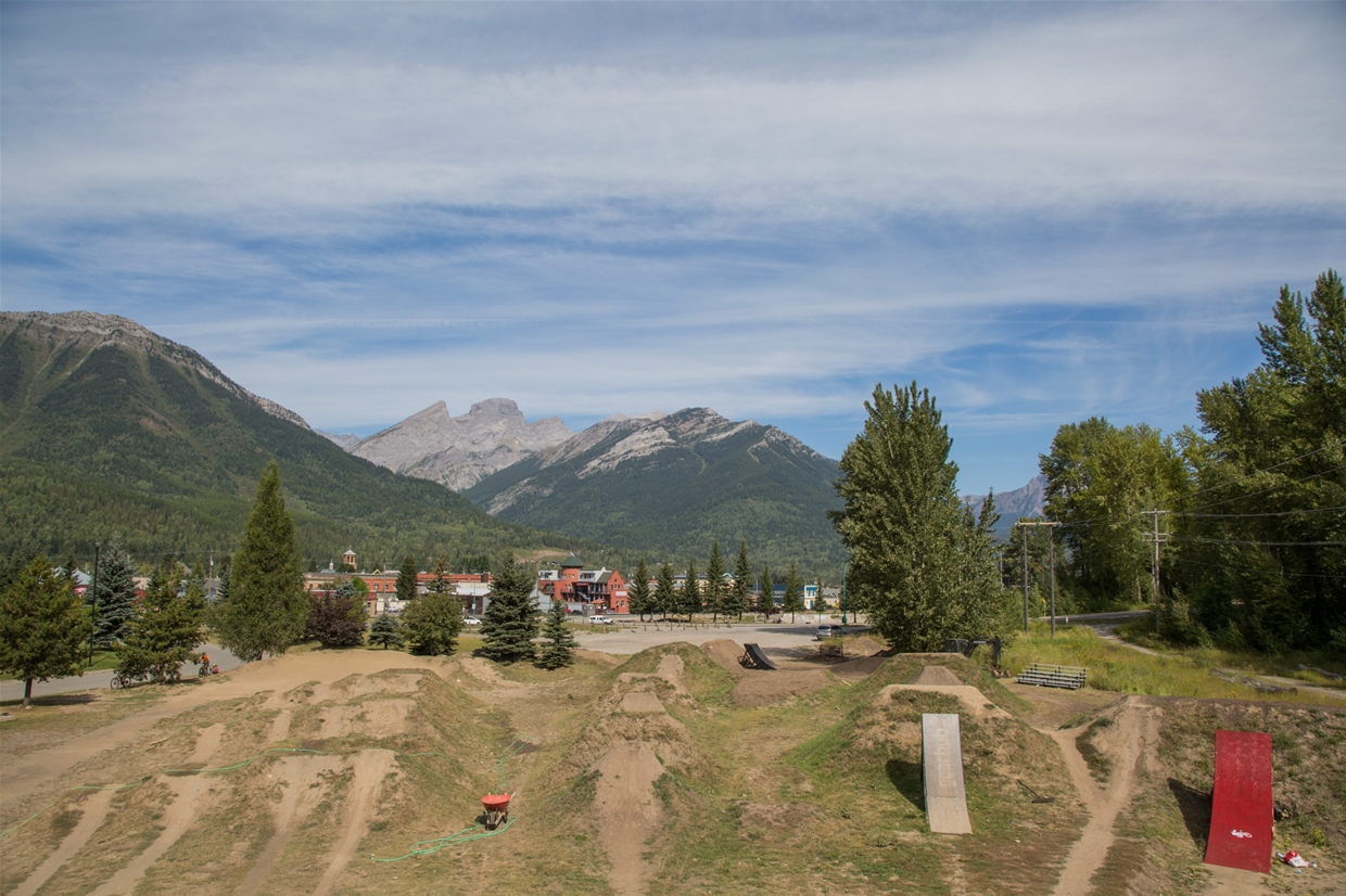 August 29th, 2019 - Looking north from Fernie Dirt Jump Park