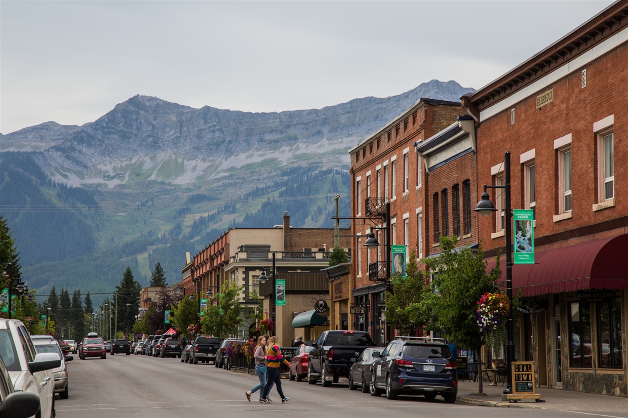 August 30th, 2019 - Looking south west from downtown Fernie
