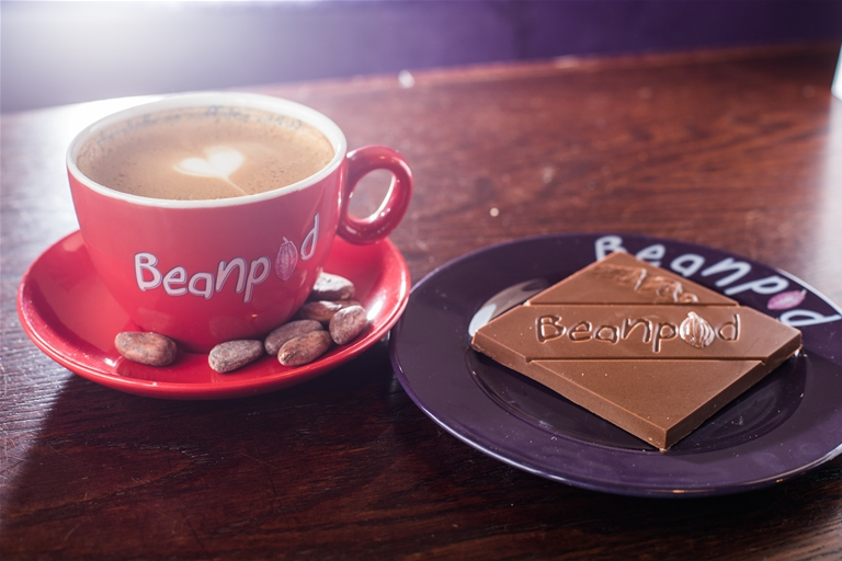 Watch Beanpod's chocolate get made and served in-house