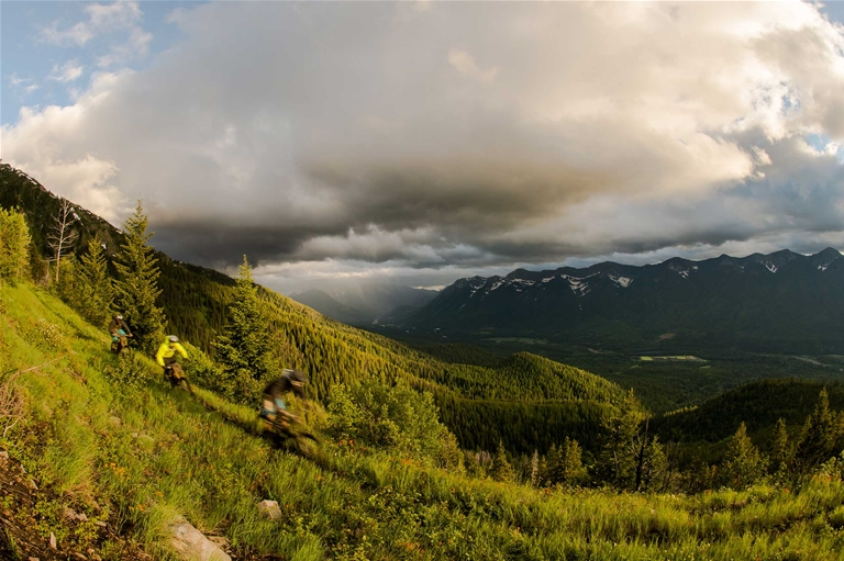 Riding Dirt Diggler Trail in Fernie