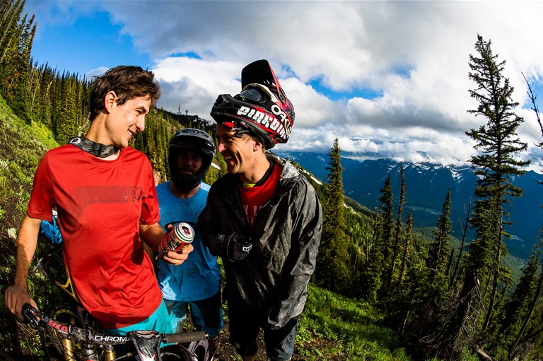 Riders on Dirt Diggler Trail in Fernie