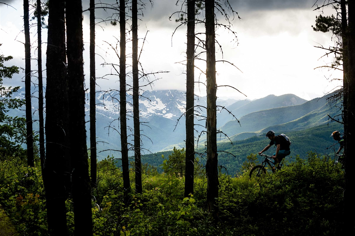Riding Castle Mountain Trails in Fernie