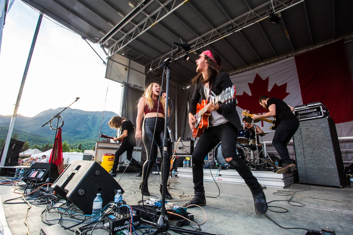 Live music at Canada Day celebrations