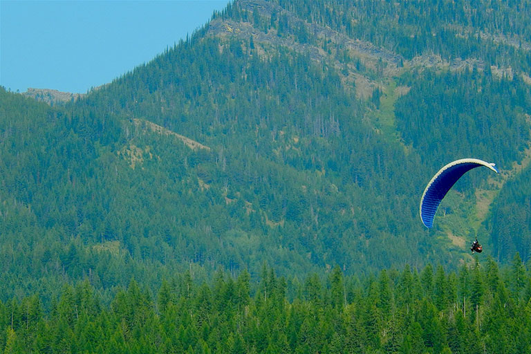 Paraglide over Fernie