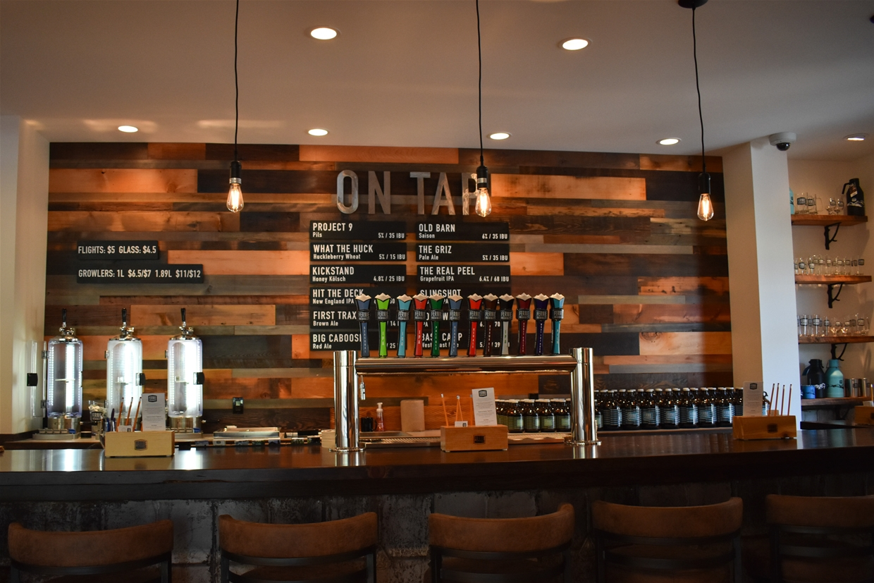 Enjoy a beer at the newly revamped tasting room