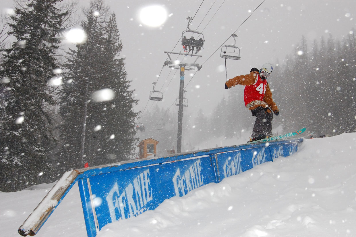 Kinky Rail Jam at Fernie Alpine Resort