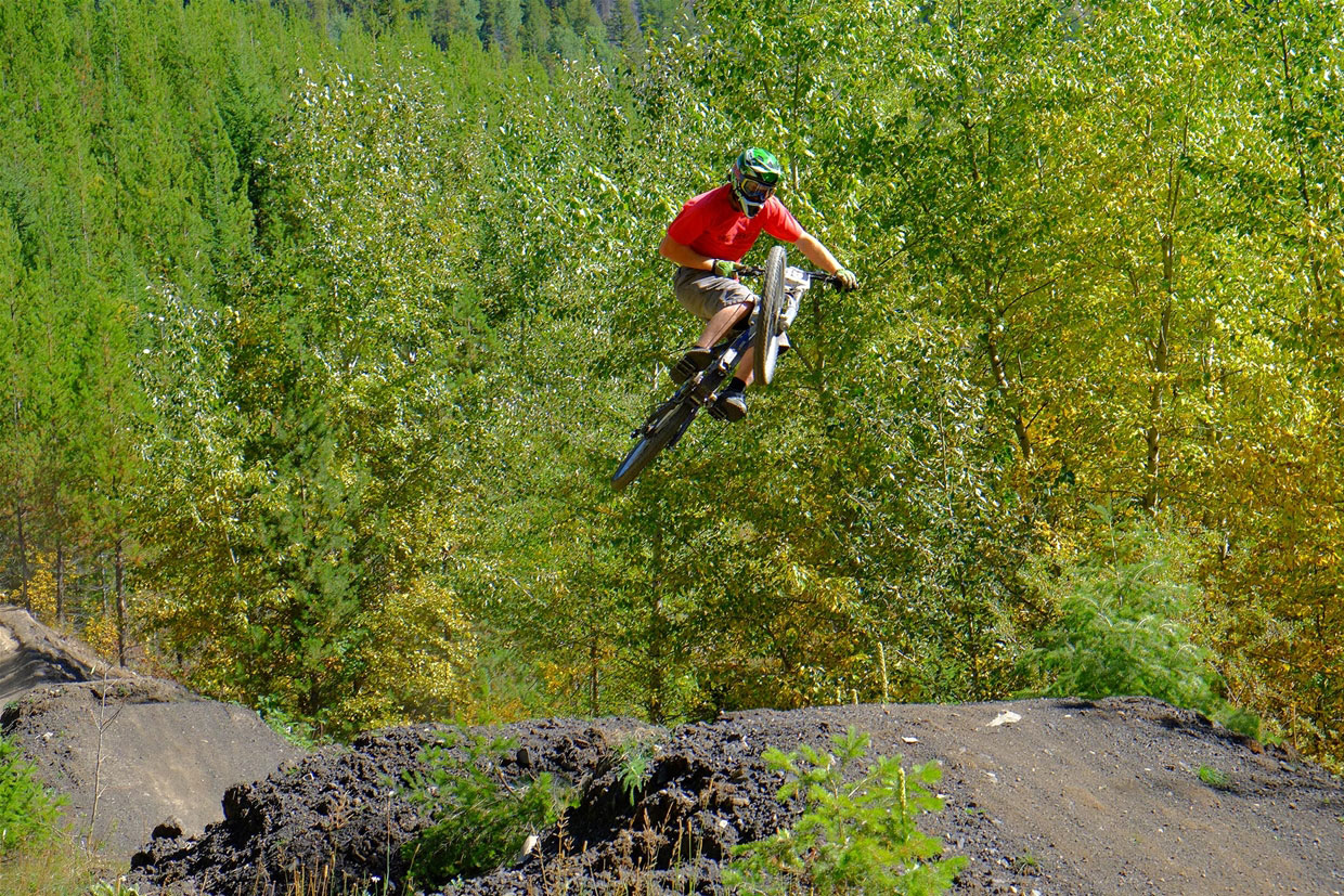 Mountain Bike Race in action