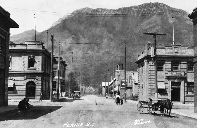 Downtown Fernie in the early 1900's