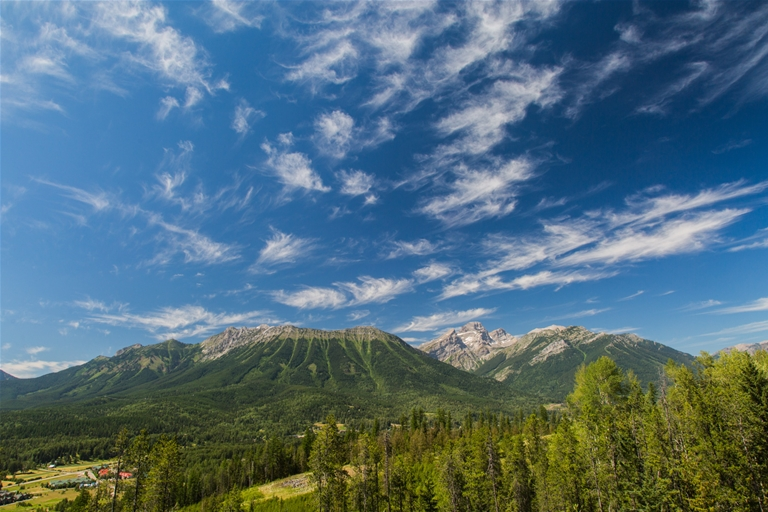 Encompassed by mountain views on the Elk Valley Trail through Fernie