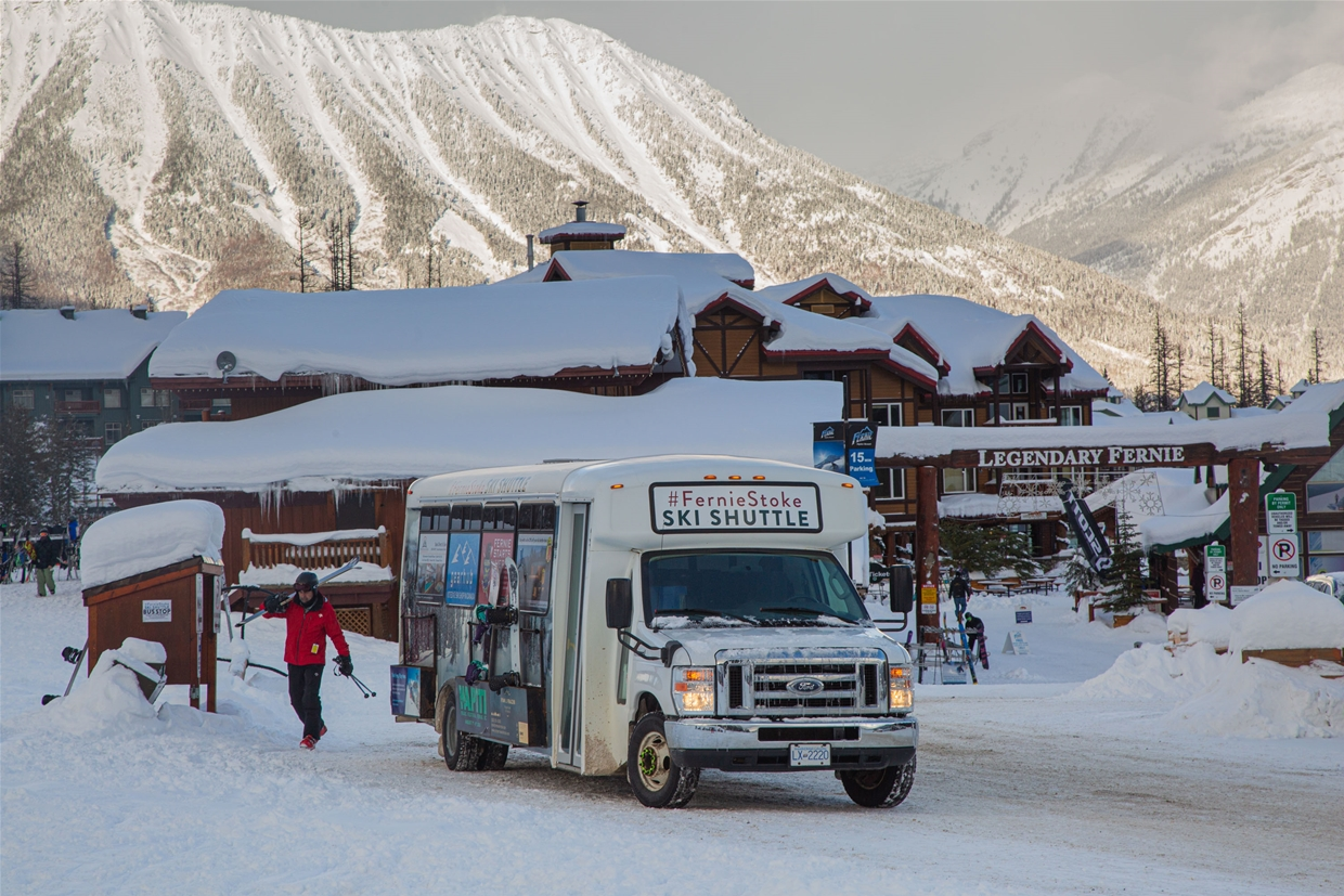 Regular service between the Fernie Alpine Resort and the City of Fernie