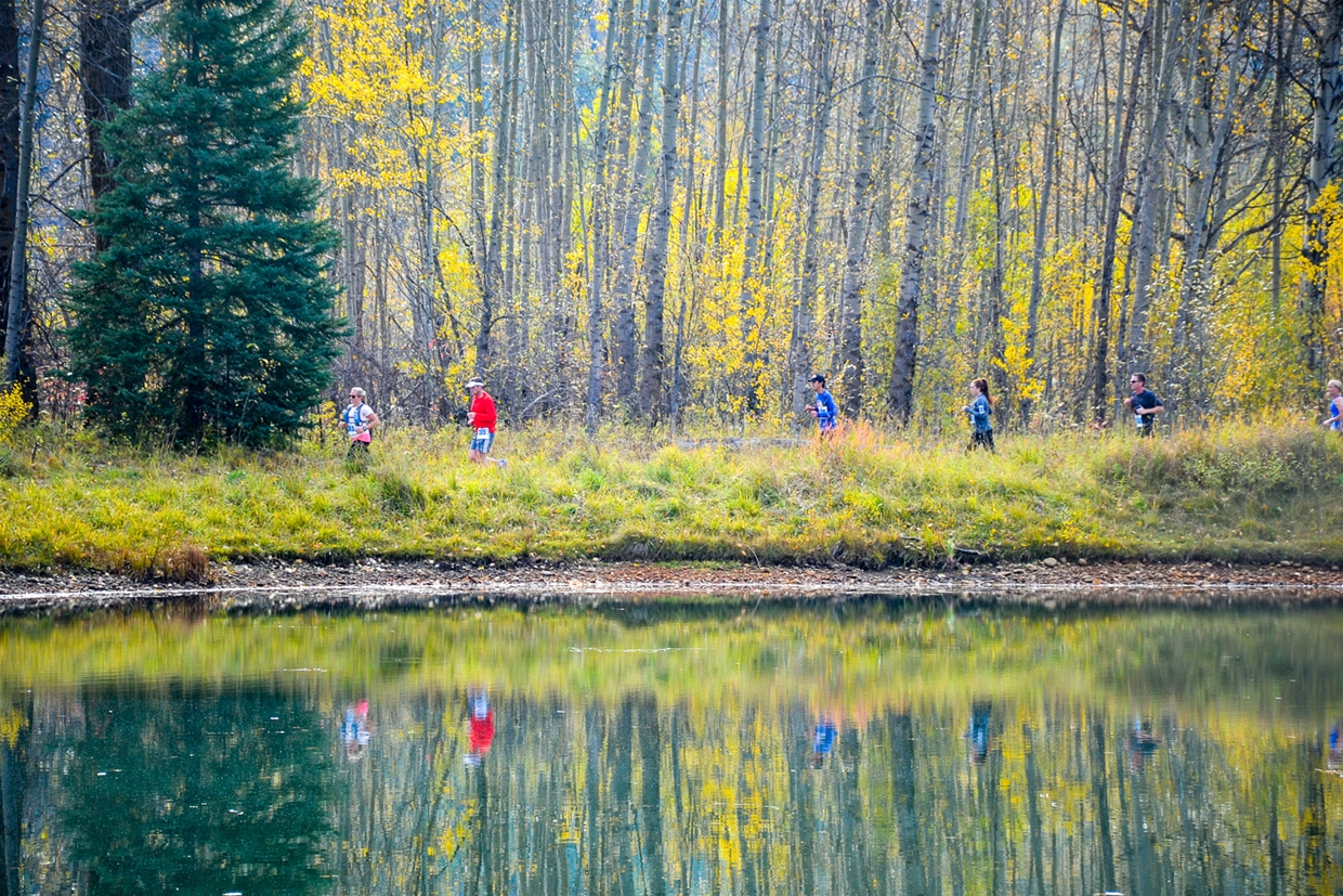 Half Marathon trails passing Maiden Lake