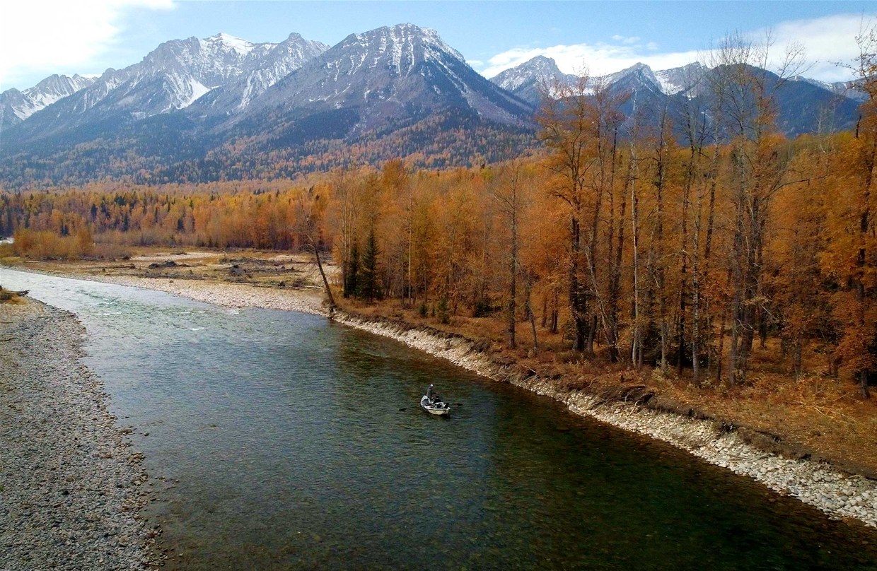 Guided fly fishing with Kootenay Guiding & Fly Shop