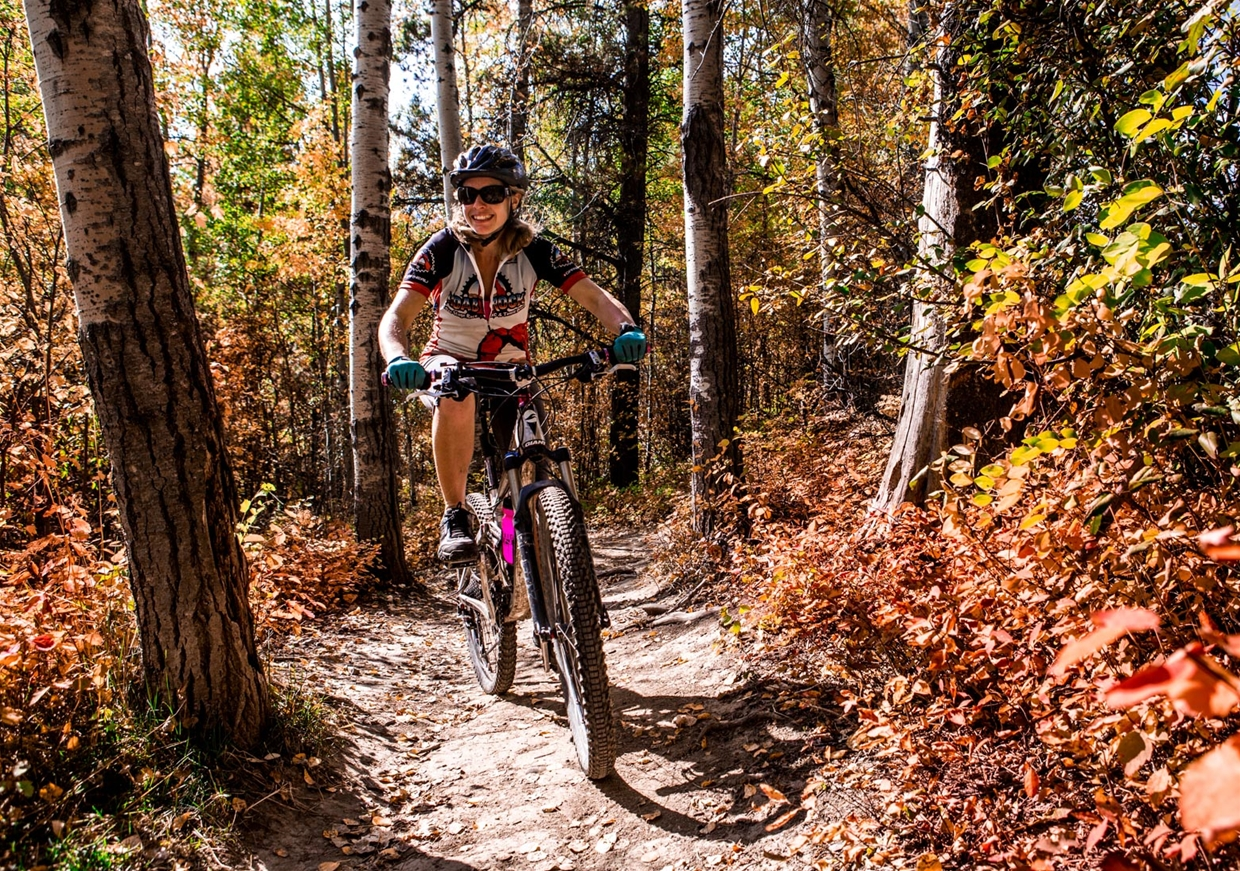 Explore the trails by bike