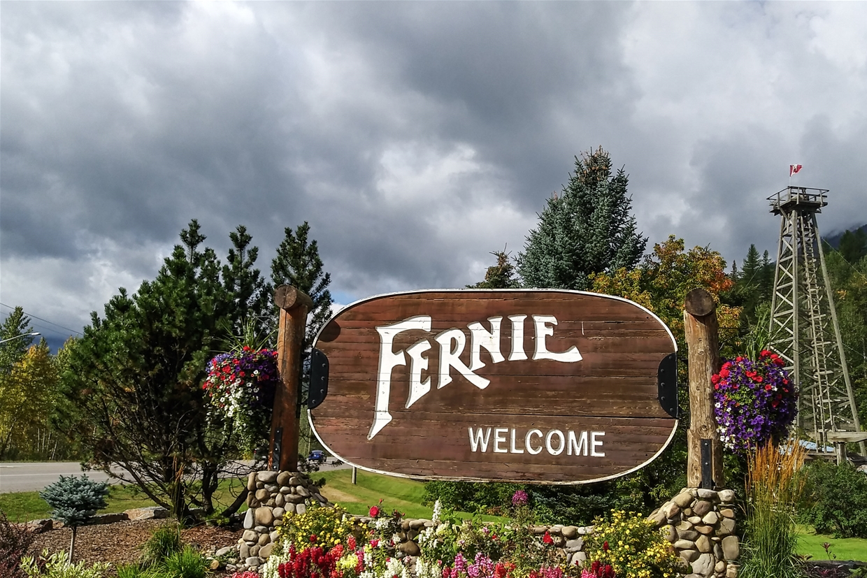 Fernie sky at 11am on September 12th, 2018 - Looking SW