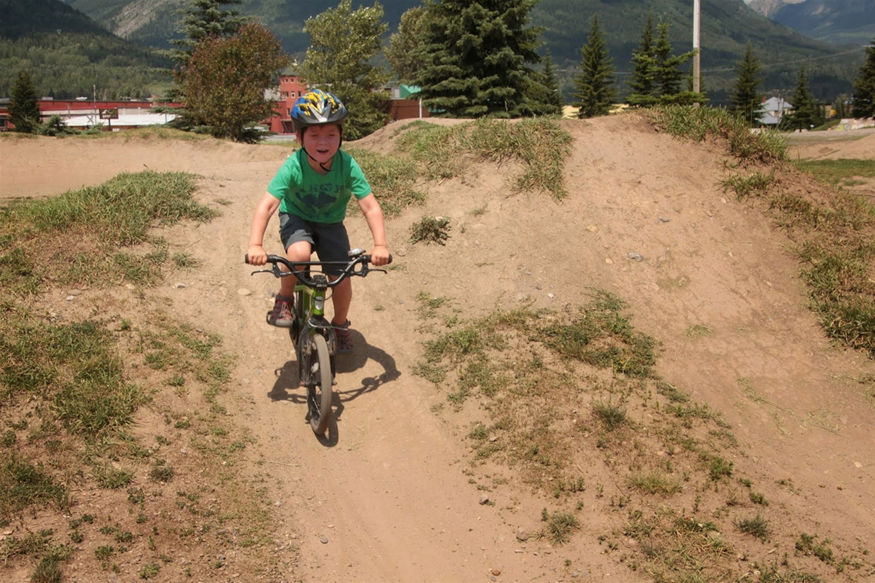 Playing at Fernie Dirt Jump Park
