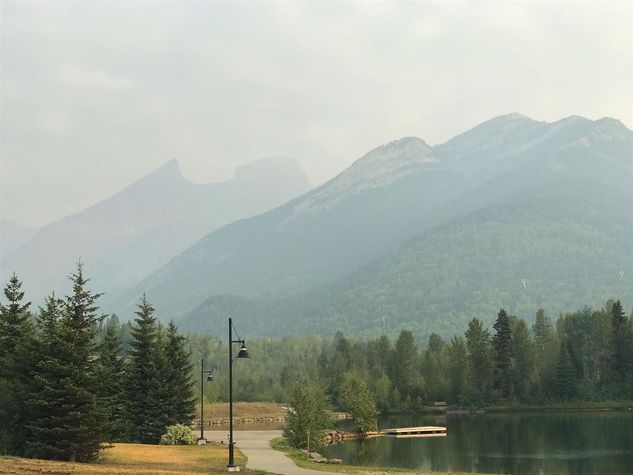 Fernie sky, 8am Aug 13th - Looking north