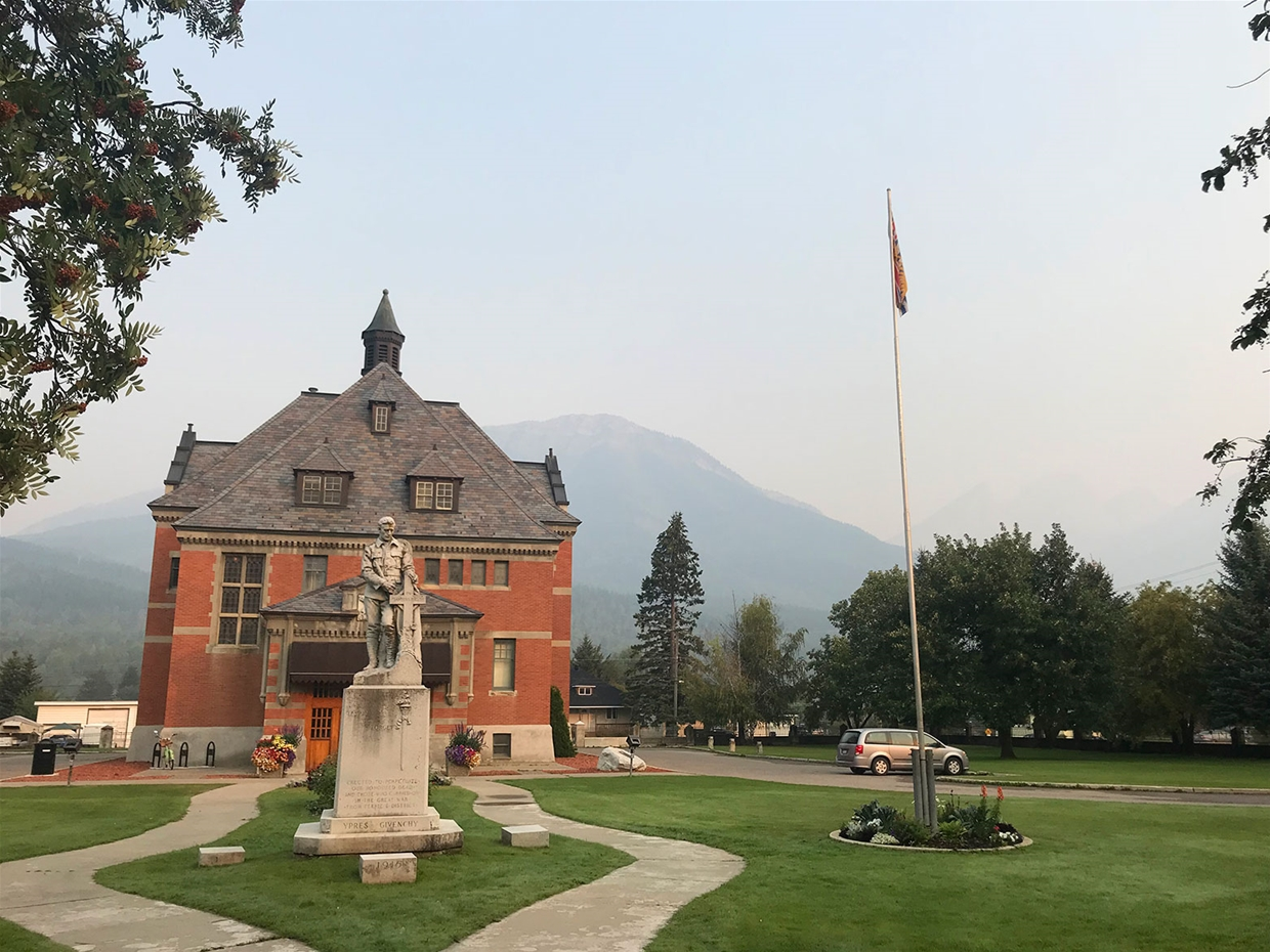 Fernie sky at 8:00am Thursday Aug 16 - Looking NW