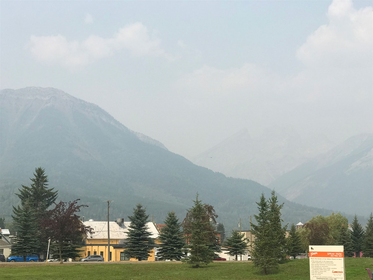 Fernie sky at 1:30pm on Saturday August 18, 2018 - Looking NW
