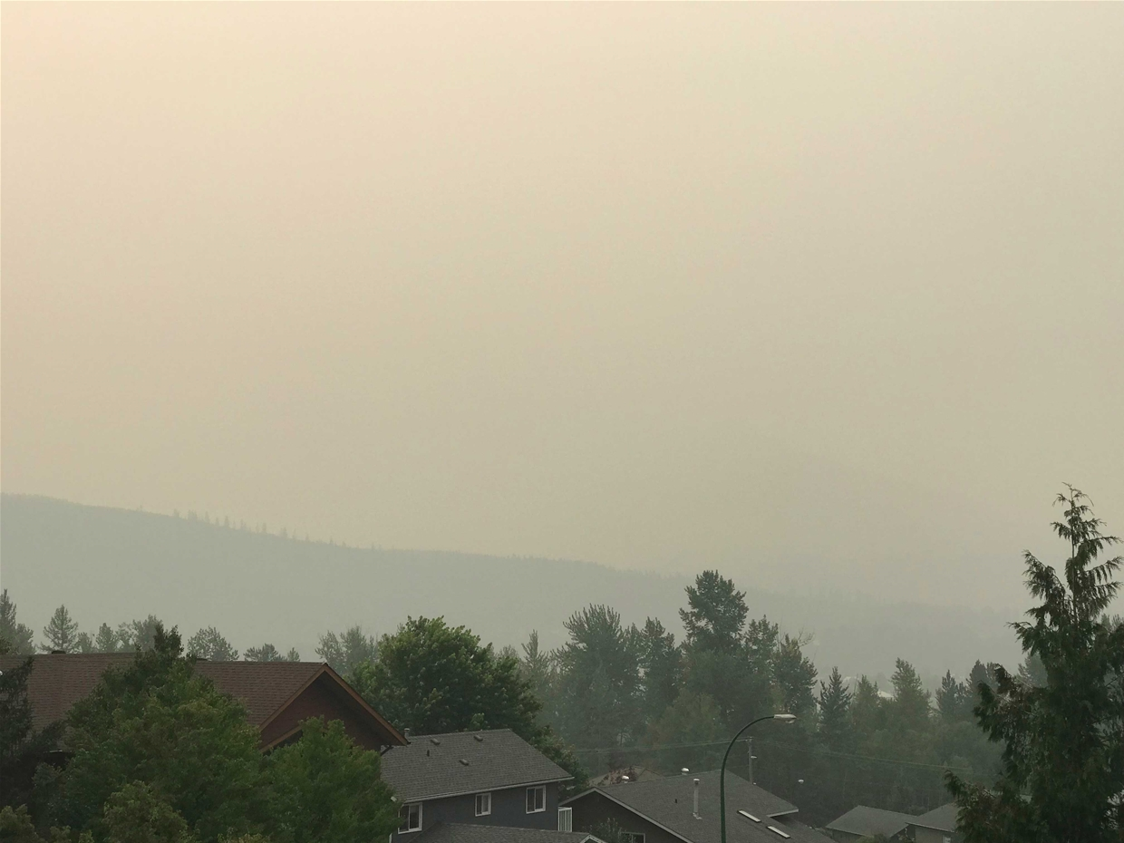 Fernie sky at 8:00am on Sunday August 19, 2018 - Looking South