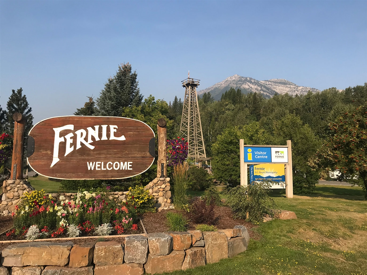 Fernie sky at 9:00am on Wednesday August 22, 2018 - Looking West