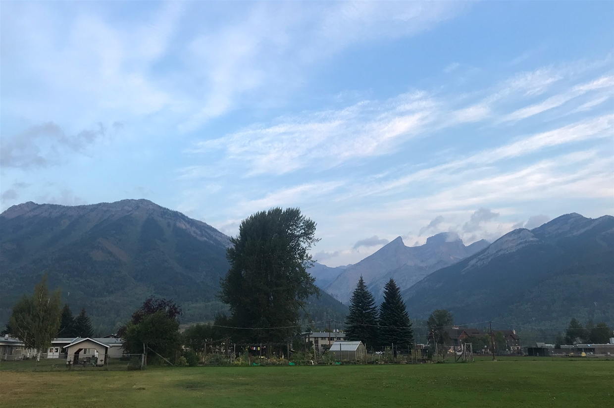 Fernie sky at 7:00am on Wednesday August 29, 2018 - Looking NW