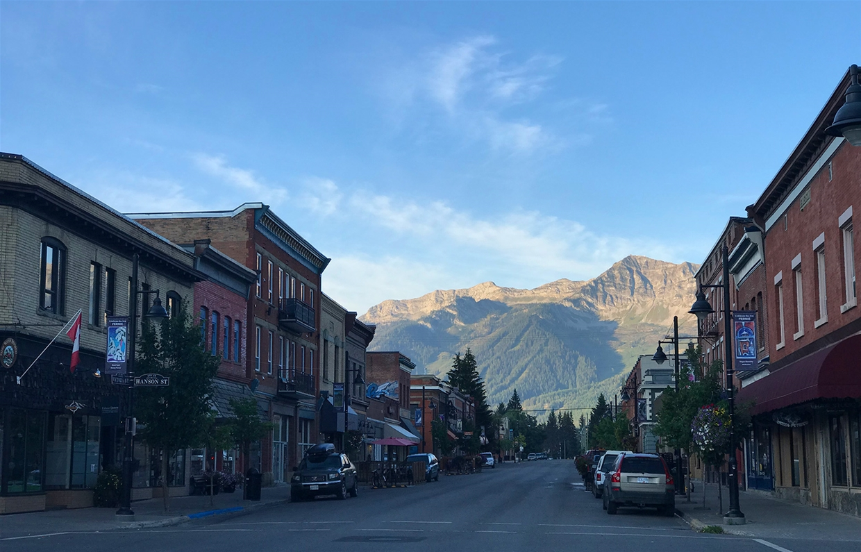Fernie sky at 7:30am on Thursday August 30, 2018 - Looking SW