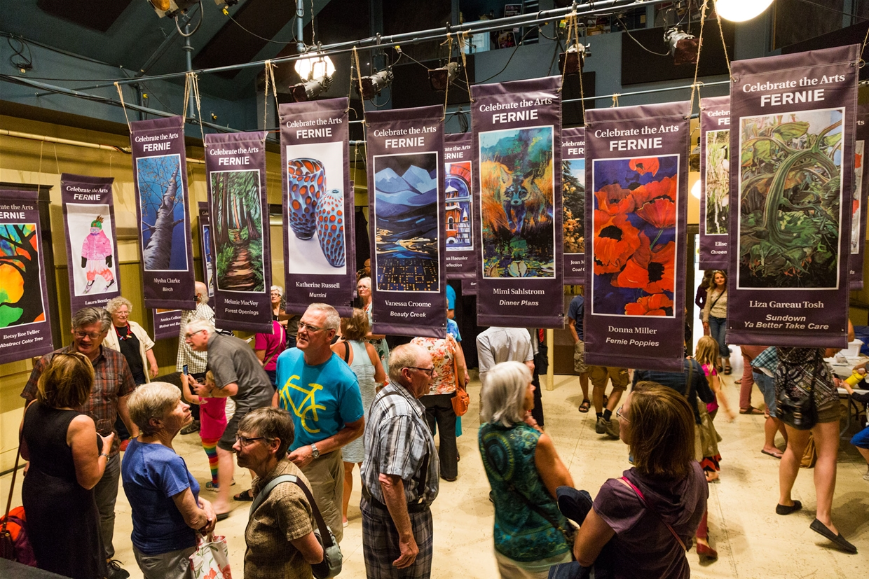 Banners created by local artists