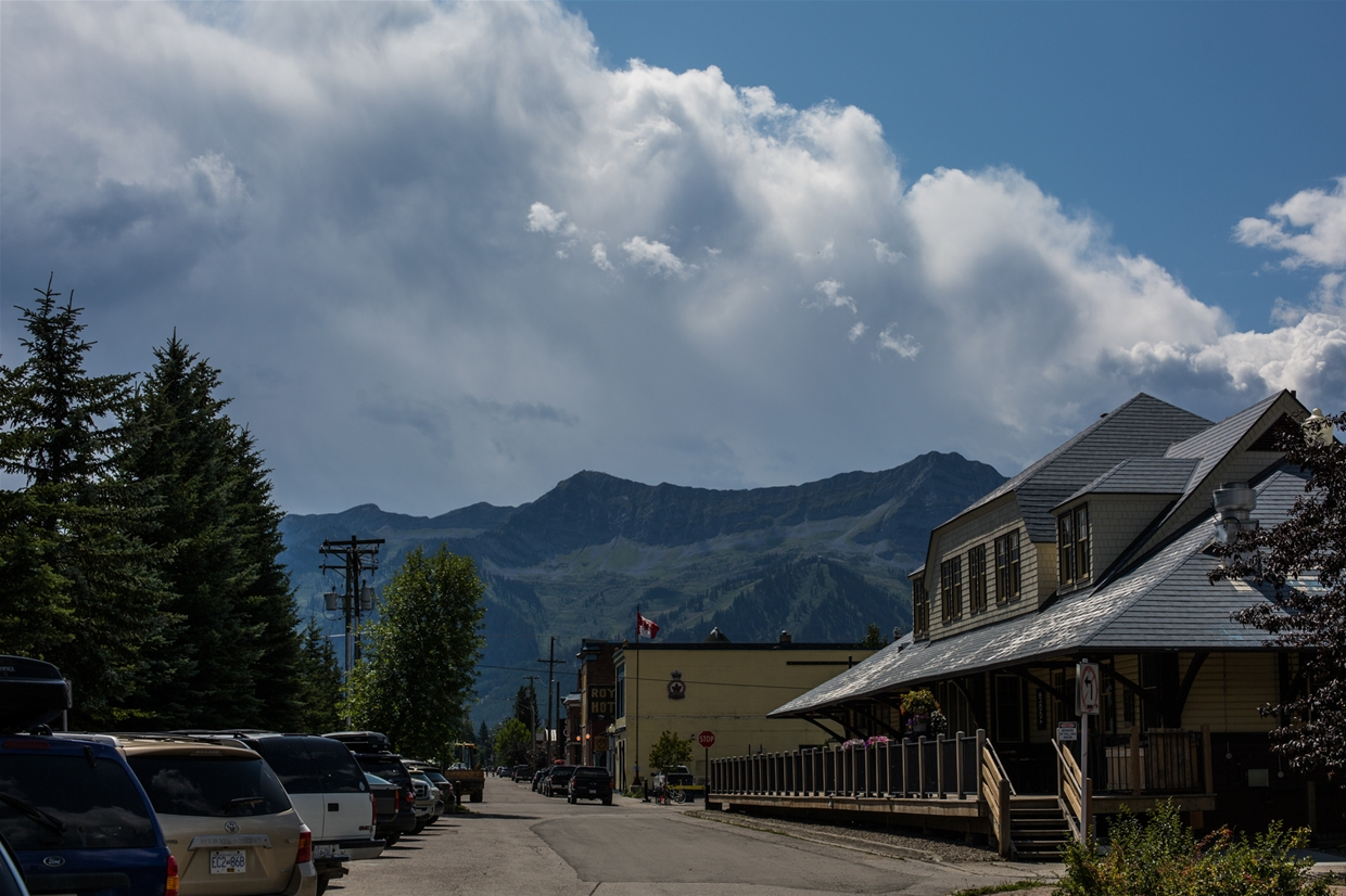 August 14th, 2019 - Looking south west towards Fernie Alpine Resort