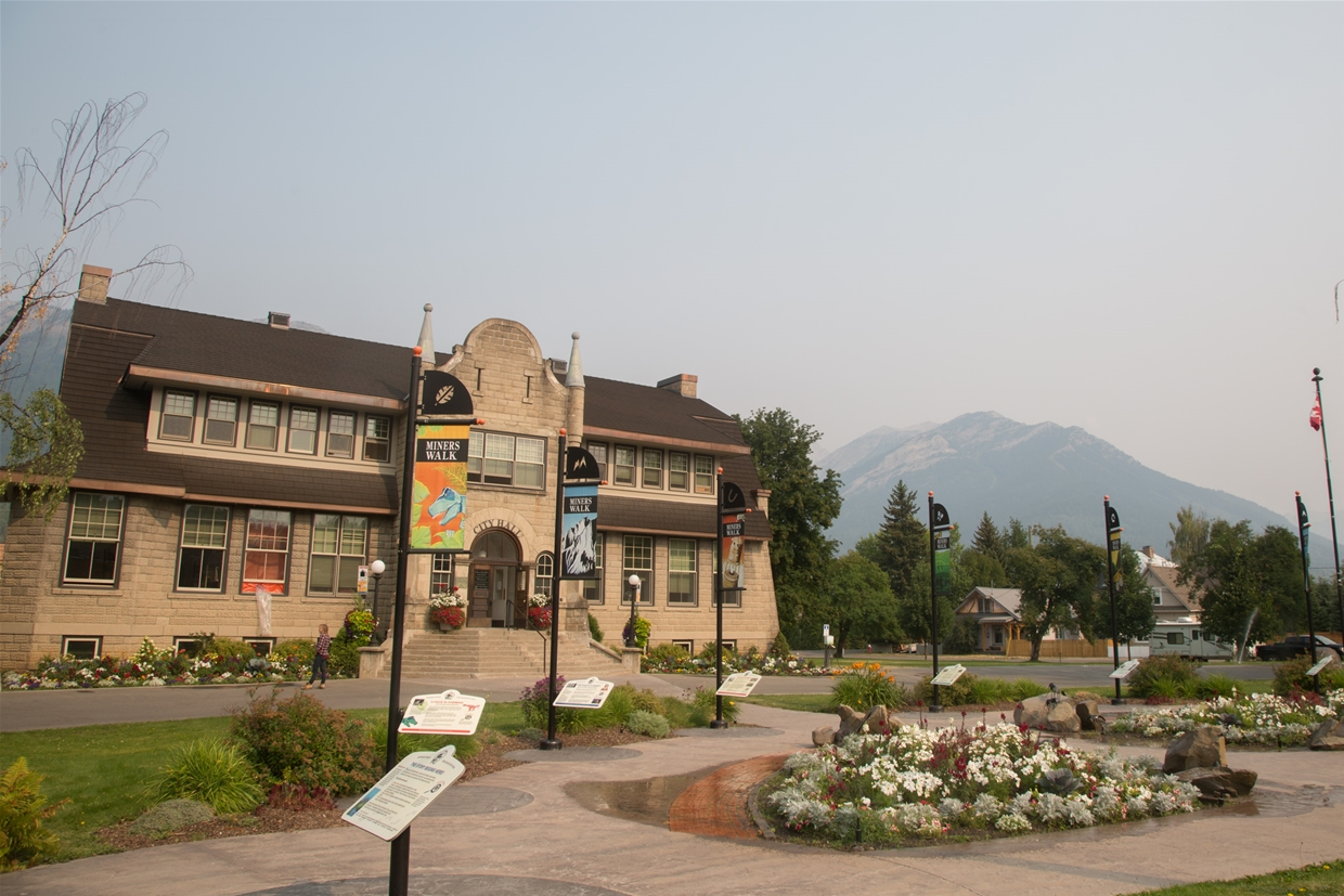 Fernie sky at 10:00am August 8, 2017 - Outside City Hall