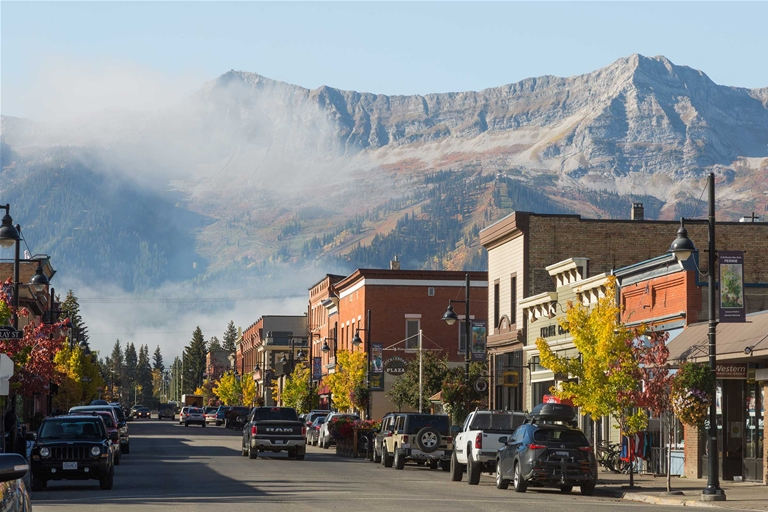 Fall season in Historic Downtown Fernie