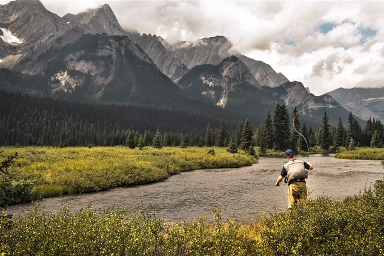Fly fishing near Fernie