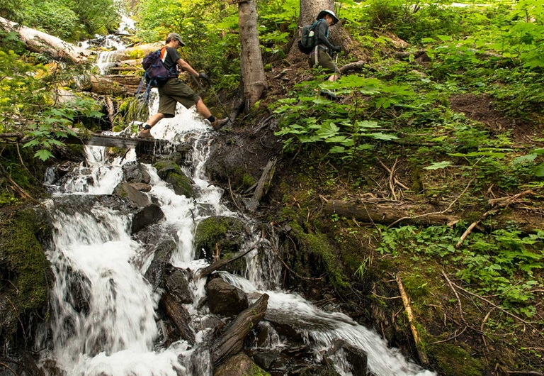 Jumping Waters on Heiko's Trail / Mountain Lakes Trail