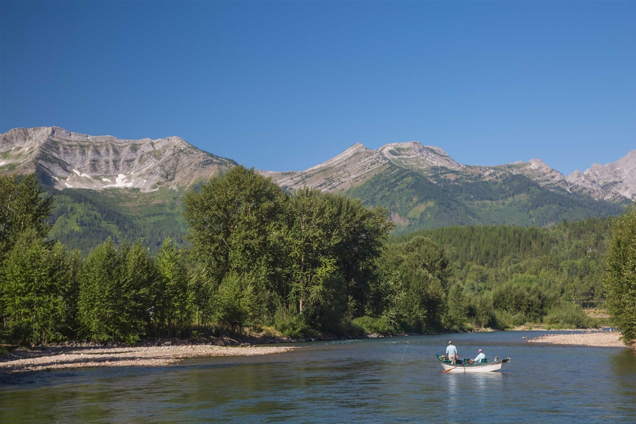 Fly fishing on the Elk River in July