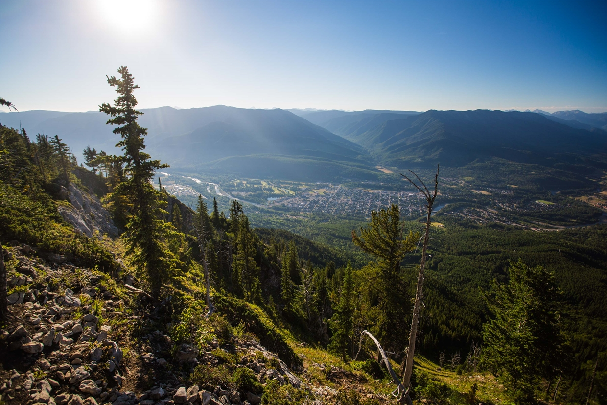 The view from Mount Fernie Ridge is worth the hike