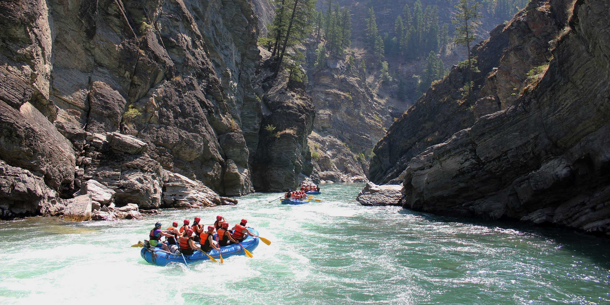 Rafting the Elk River Canyon in Fernie