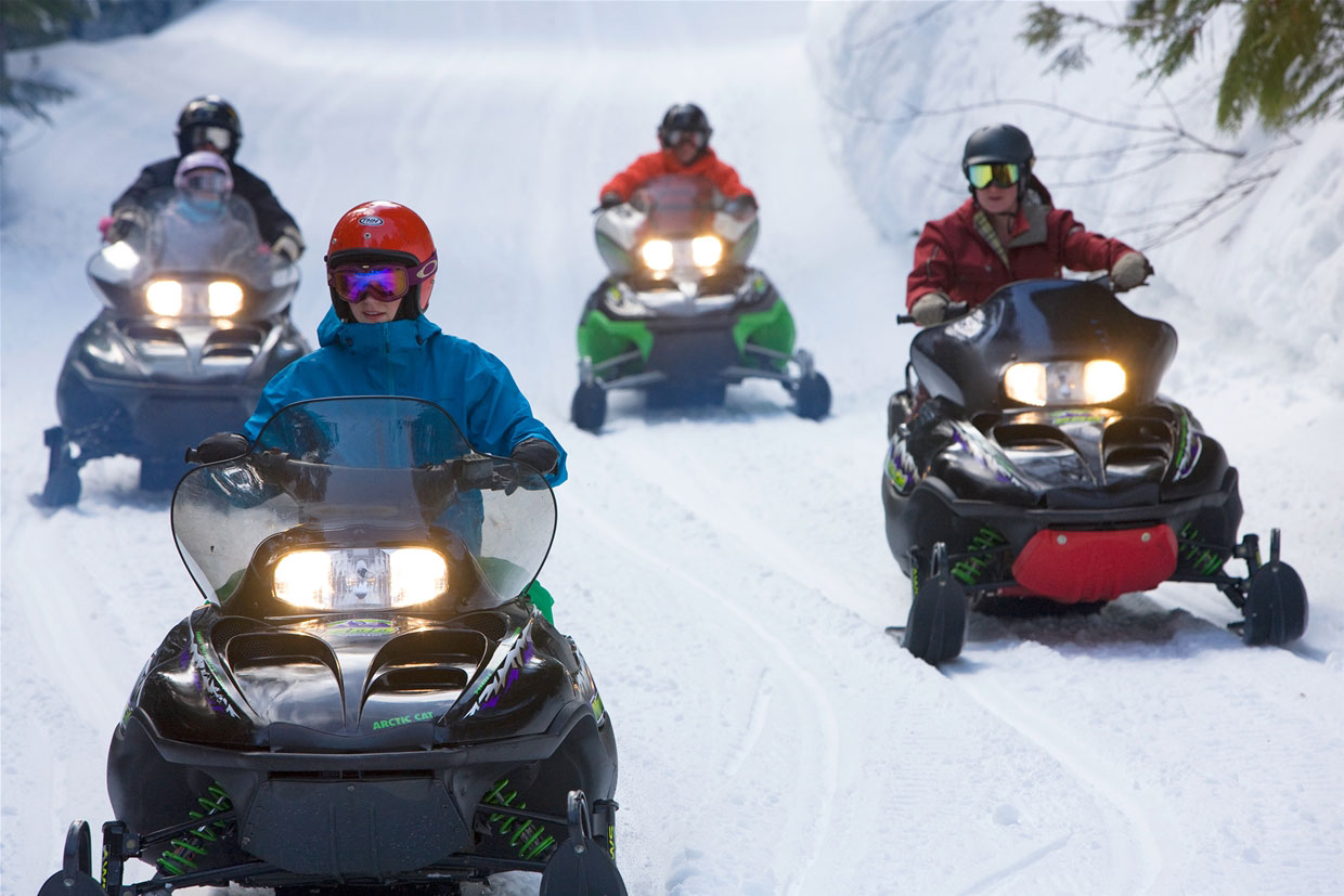 Snowmobiling for the whole family