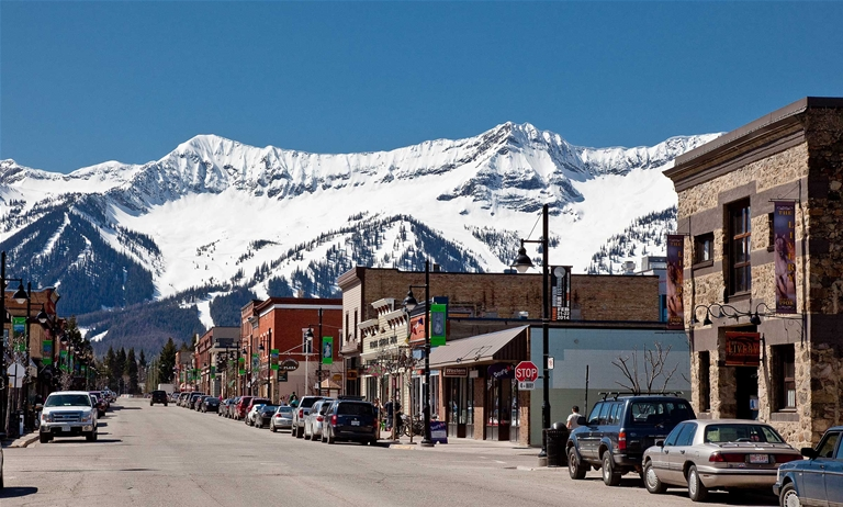 Spring time in Historic Downtown Fernie