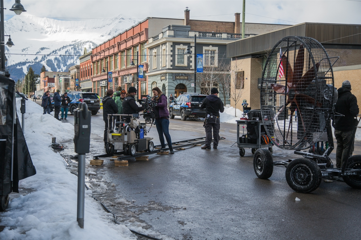 Movie HARD POWDER filming in Fernie