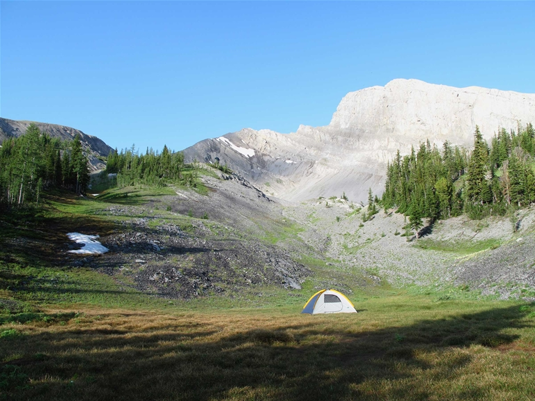 'No Trace' camping along Heiko's Trail / Mountain Lakes Trail