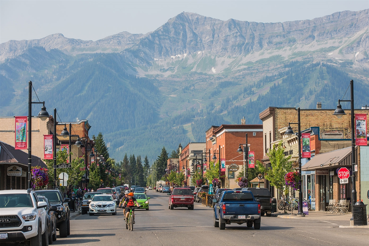Fernie sky at 9:30am August 3, 2017 - Historic Downtown on 2nd Avenue