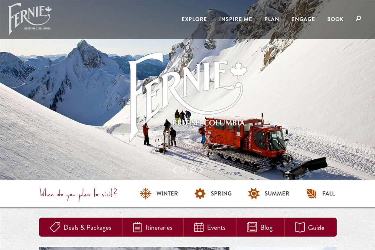 NEW Tourism Fernie Website